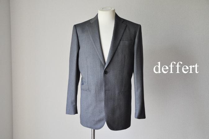 d42 お客様のスーツの紹介-御幸毛織 Box Collection グレーバーズアイ-
