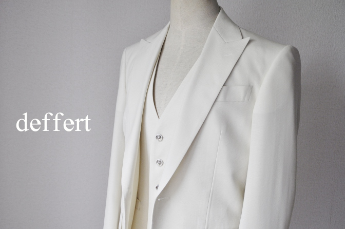 d45 お客様のウエディング衣装の紹介-ホワイトスリーピース-