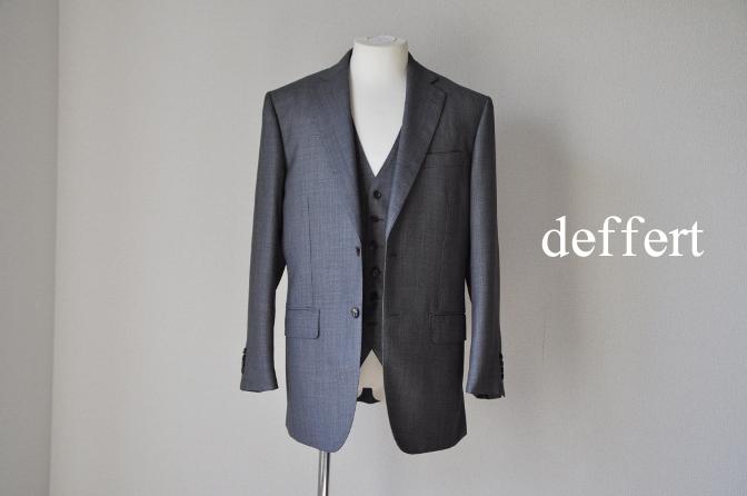 d50 お客様のスーツの紹介-HOLLAND&SHERRY グレーバーズアイスリーピース-
