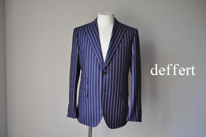 d57 お客様のスーツの紹介-DARROW DALE ネイビーピンクストライプ フランネルスーツ-