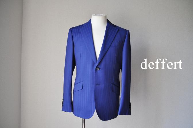 d58 お客様のスーツの紹介-BIELLESI ブライトネイビーストライプ-