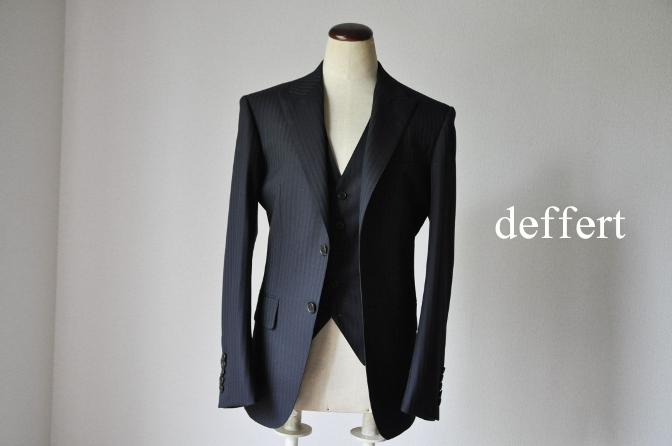 d6 お客様のスーツの紹介-ブラックストライプ- 名古屋の完全予約制オーダースーツ専門店DEFFERT