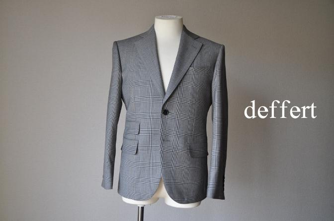 d60 お客様のジャケットの紹介-グレンチェックジャケット- 名古屋の完全予約制オーダースーツ専門店DEFFERT