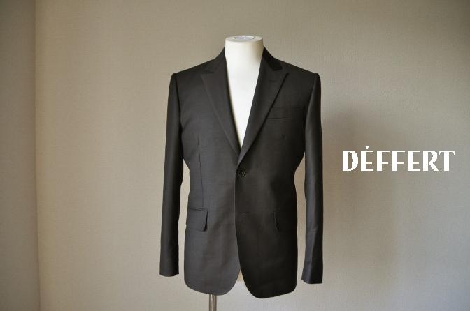 d65 お客様のスーツの紹介-CANONICO 無地ブラウンスーツ-