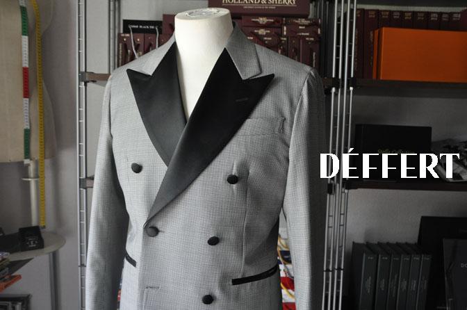 d8143a457b7a649cfc2f2e94fb9051f4 お客様のウエディング衣装の紹介-CANONICO 千鳥格子ダブルタキシード-