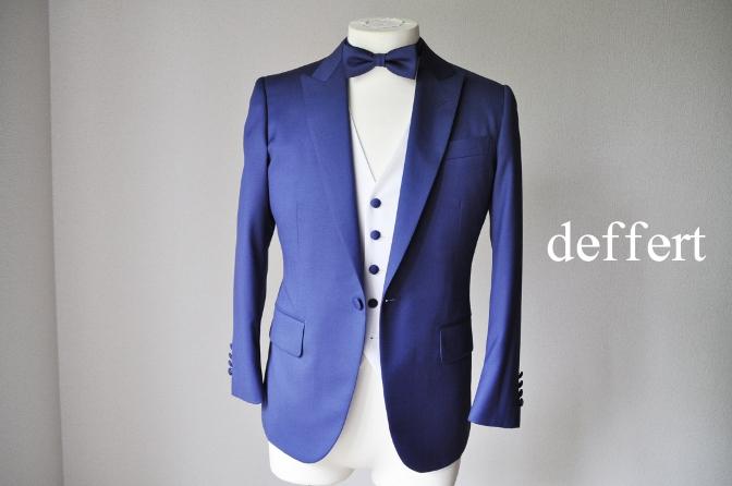 dw お客様のウエディング衣装の紹介-BIELLESIネイビースーツ グレー/ホワイトベスト-