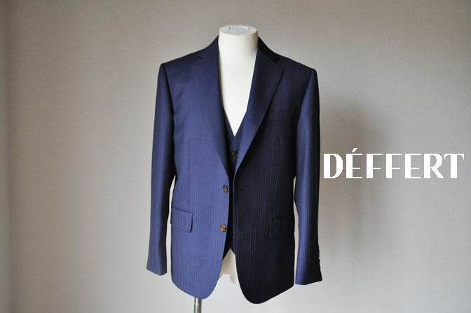 e6e5d03632471a5c37c300f7d2343c8f お客様のスーツの紹介-御幸毛織 ネイビーシャドーストライプ-