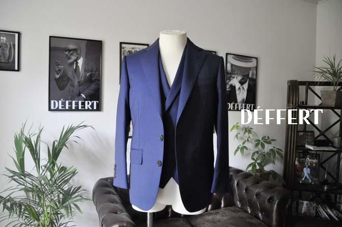 ff1f4b36eac401f70ede9d595fd13191 お客様のスーツの紹介-Biellesi ネイビーヘリンボーン スリーピース- 名古屋の完全予約制オーダースーツ専門店DEFFERT