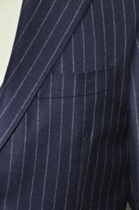 h6-199x300 オーダースーツ-DARROW DALE ネイビーストライプスリーピース- 名古屋の完全予約制オーダースーツ専門店DEFFERT