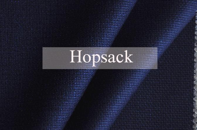 hopsack クールビズ-ポップサック素材-
