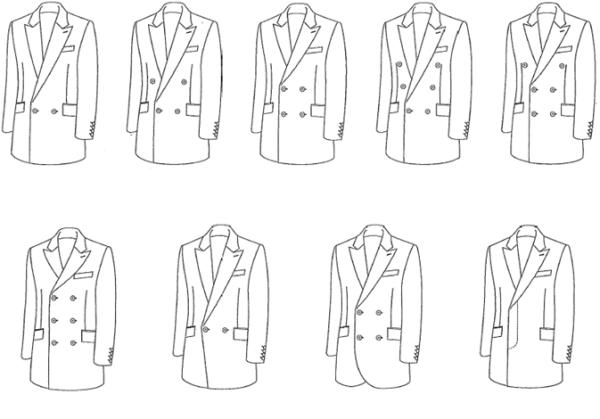 jacketpaternw ジャケットの形状 名古屋の完全予約制オーダースーツ専門店DEFFERT