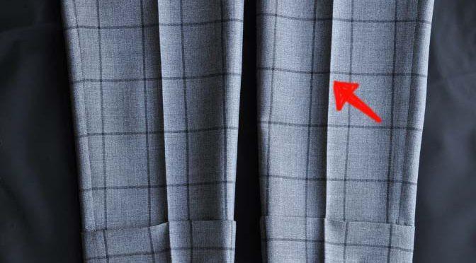 スーツのパーツ名称「クリース」