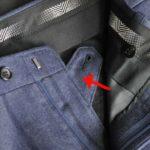 スーツのパーツ名称「天狗」